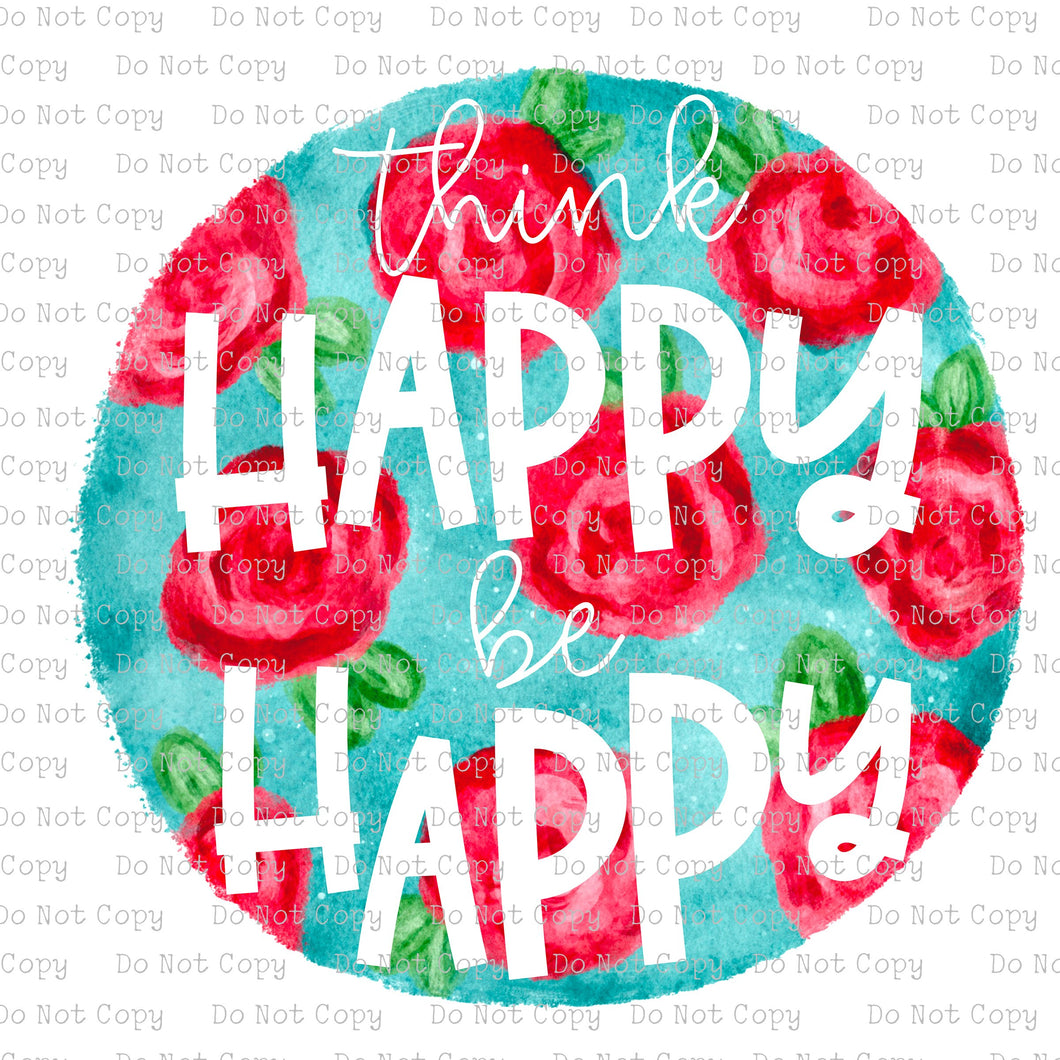 Happy Happy Floral #SB-102 - HEAT TRANSFER