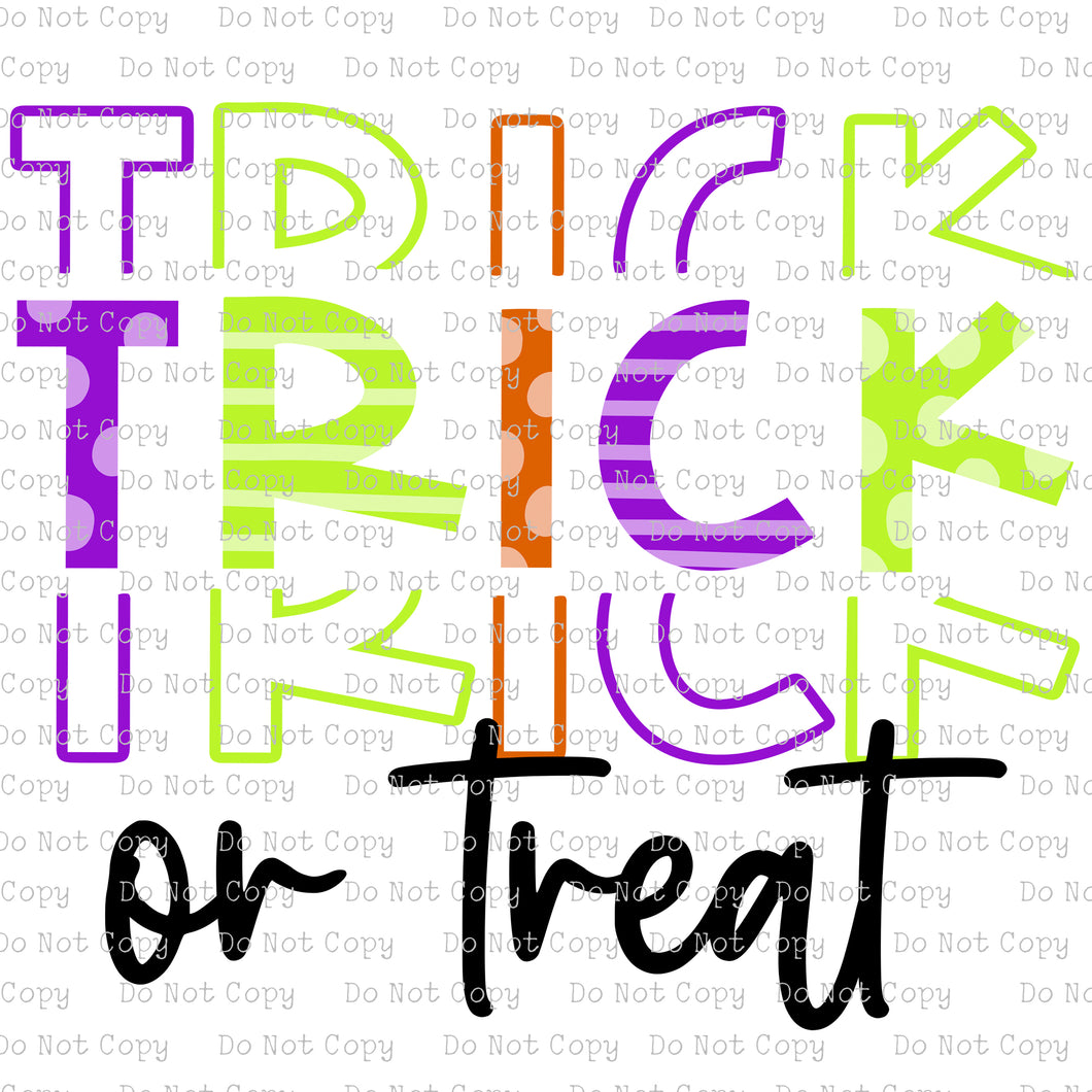 Trick or Treat - Colorful  #SB-113 - HEAT TRANSFER