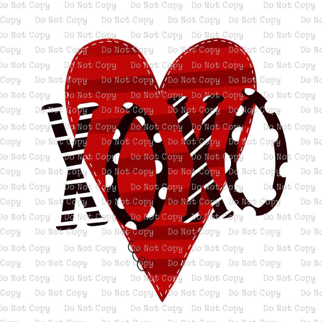 XOXO - Heart #SB-185 - HEAT TRANSFER