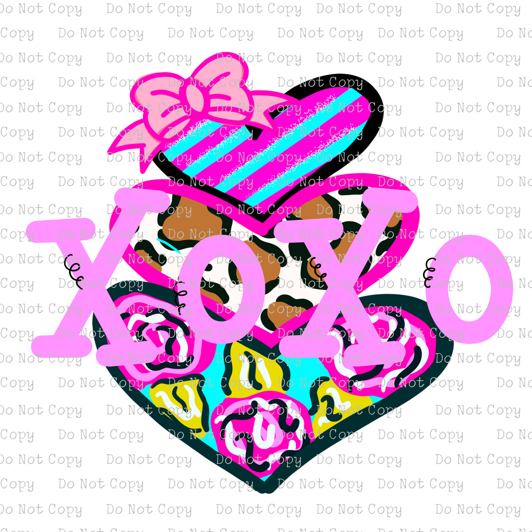 XOXO - Heart  Stacks #SB-186 - HEAT TRANSFER