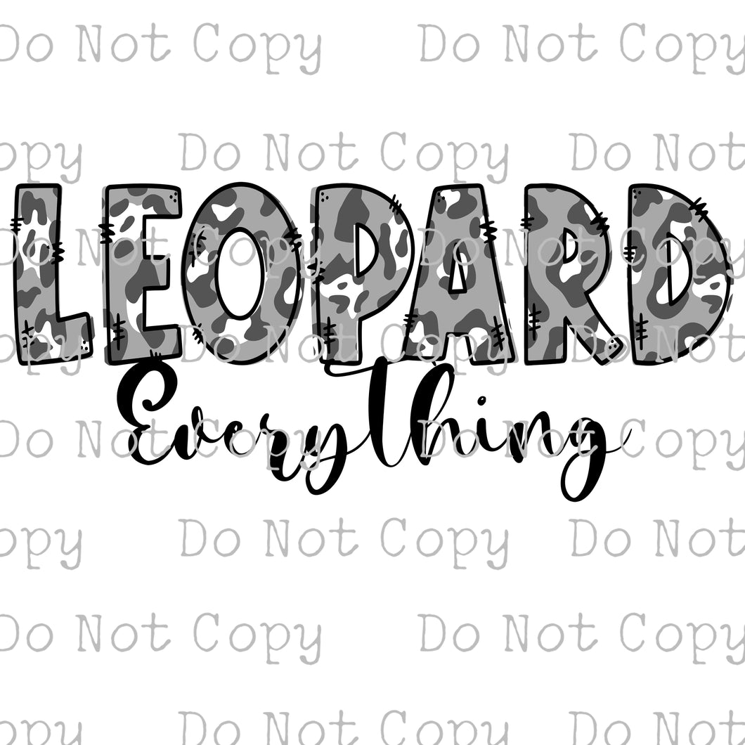 Leopard is Everything #SB-357 - HEAT TRANSFER