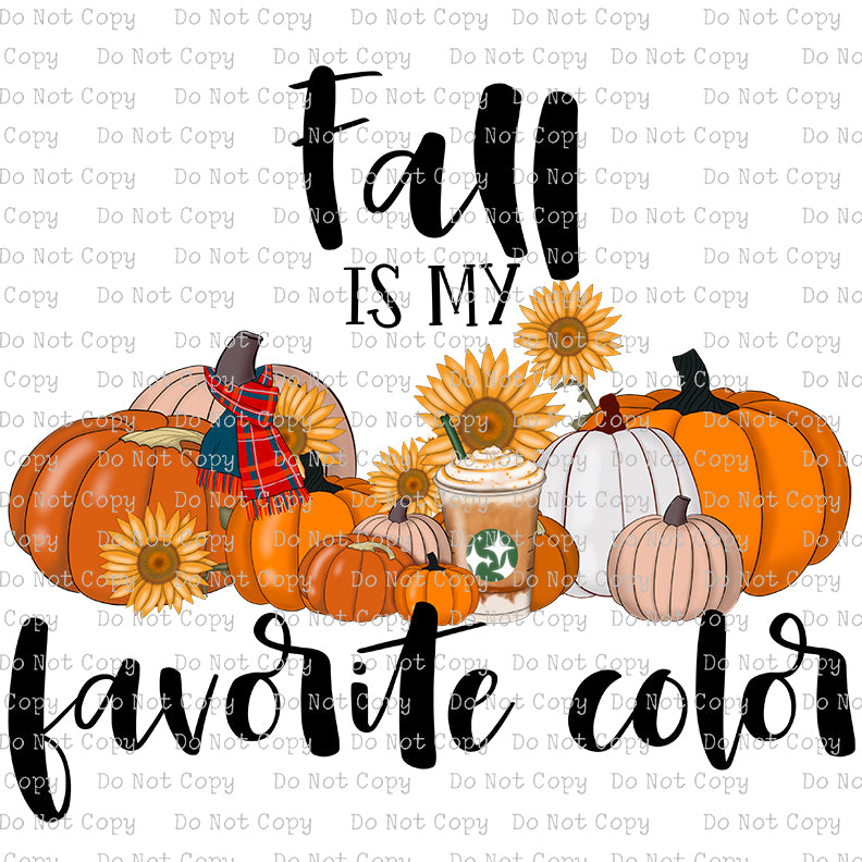 Fall is my Favorite Color #SB- 579 - HEAT TRANSFER