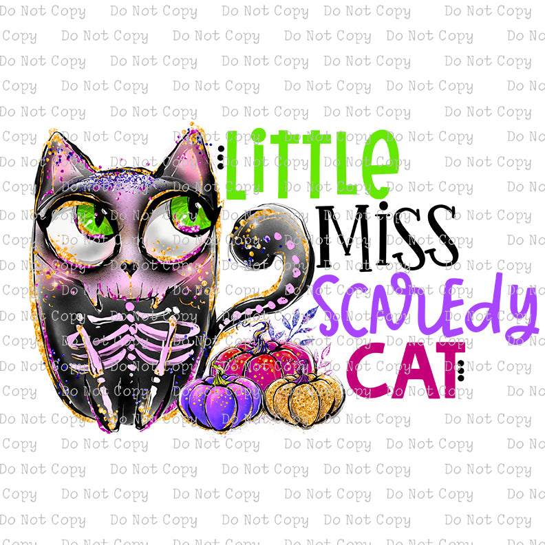 Little Miss Scaredy Cat #SB-624 - HEAT TRANSFER