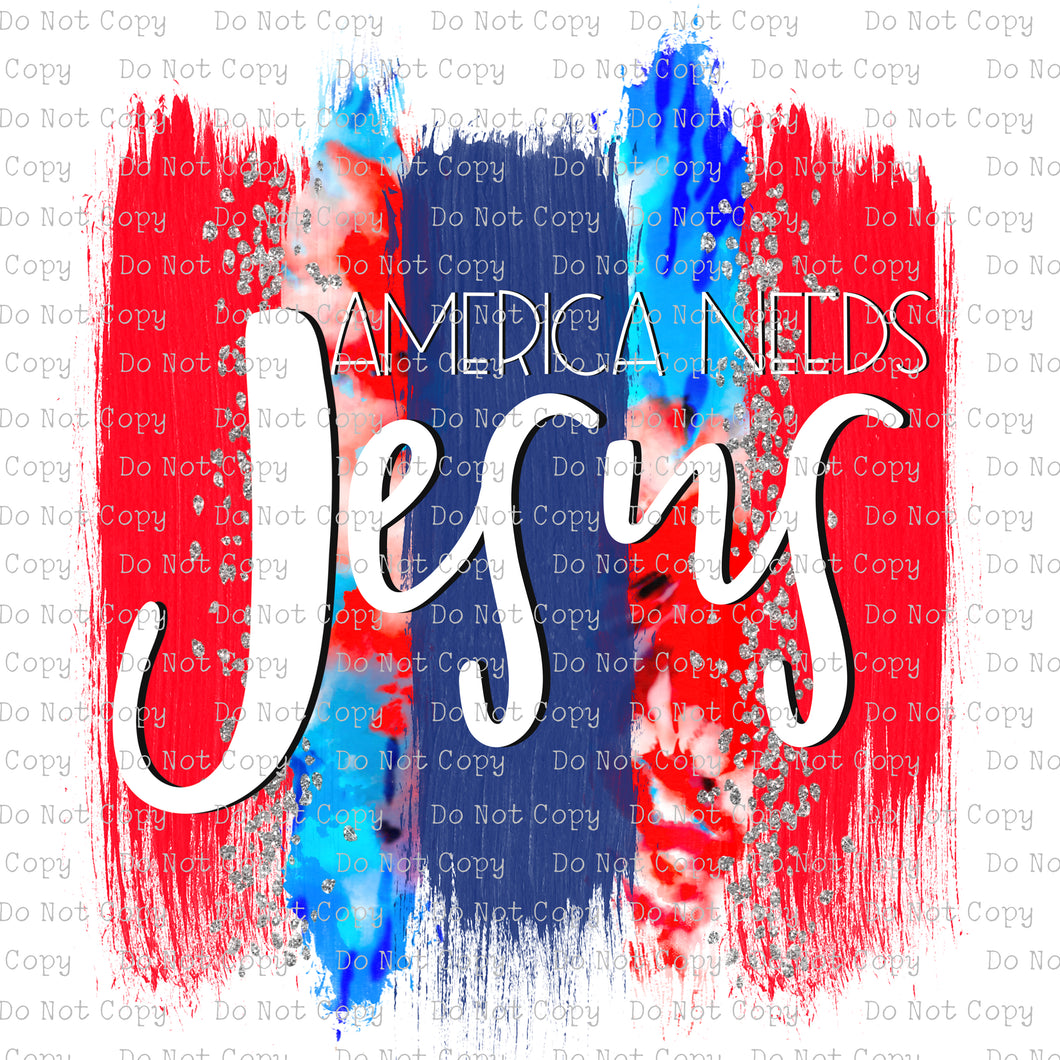 America Needs Jesus #SB-717 - HEAT TRANSFER