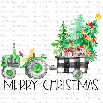 Merry Christmas - Tractor #SB-801 - HEAT TRANSFER