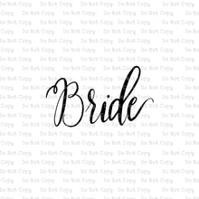 Hand Lettered Bride #C-13 - HEAT TRANSFER