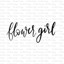 Hand Lettered Flower Girl #C-15 - HEAT TRANSFER