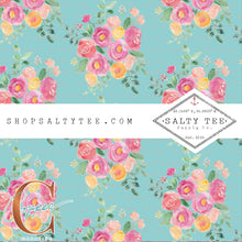 Mint my Floral #C-7 - SHEET VINYL