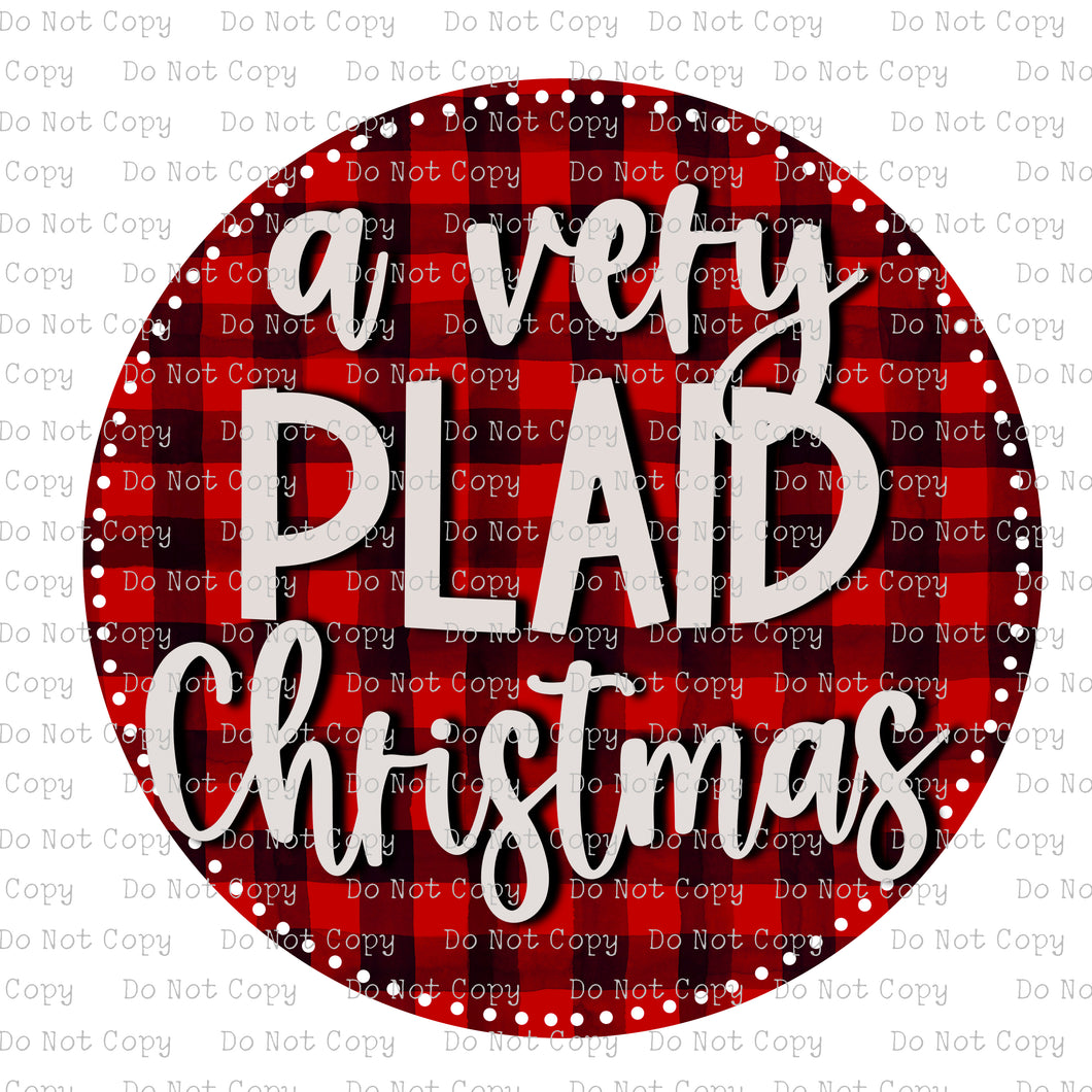 A Very Plaid Christmas #SB-887 - HEAT TRANSFER