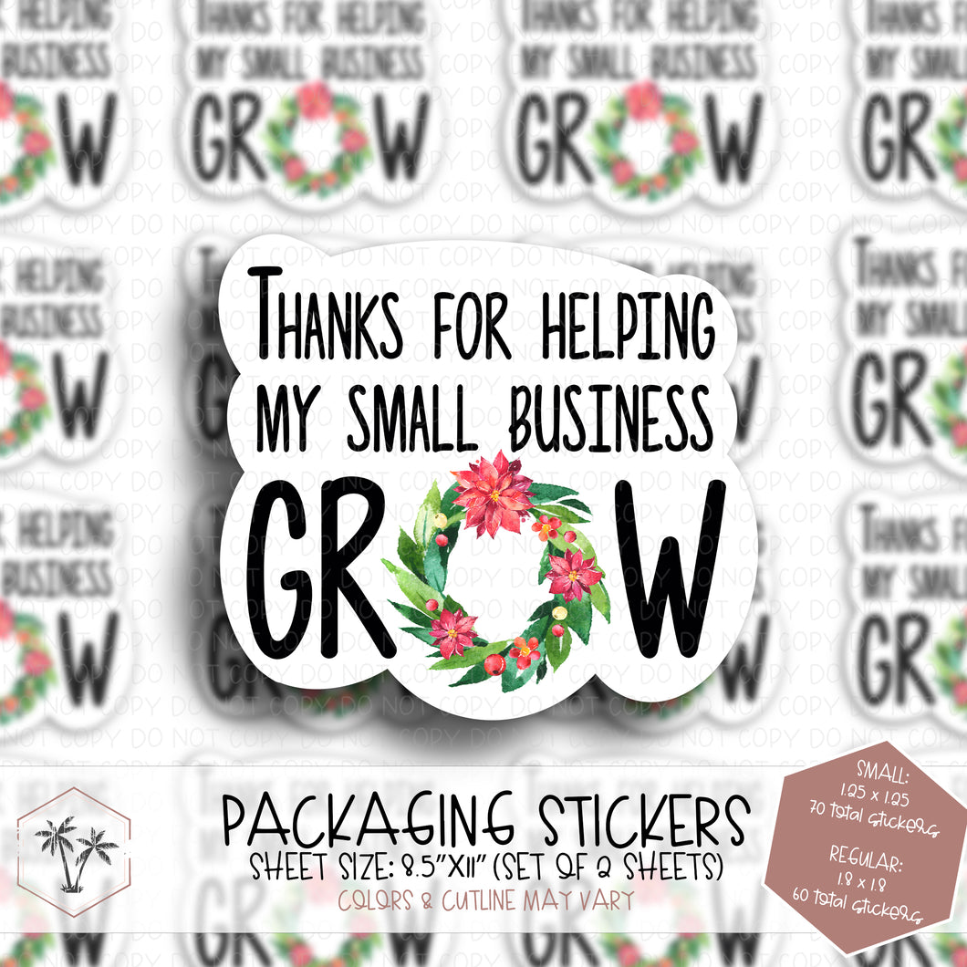 Thanks for Helping my Business Grow #ST00006 - STICKERS