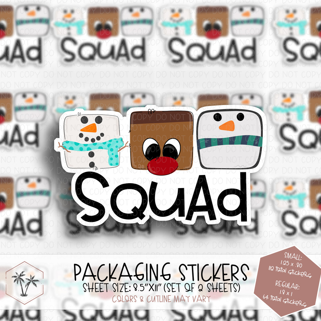 Squad #ST00014 - STICKERS