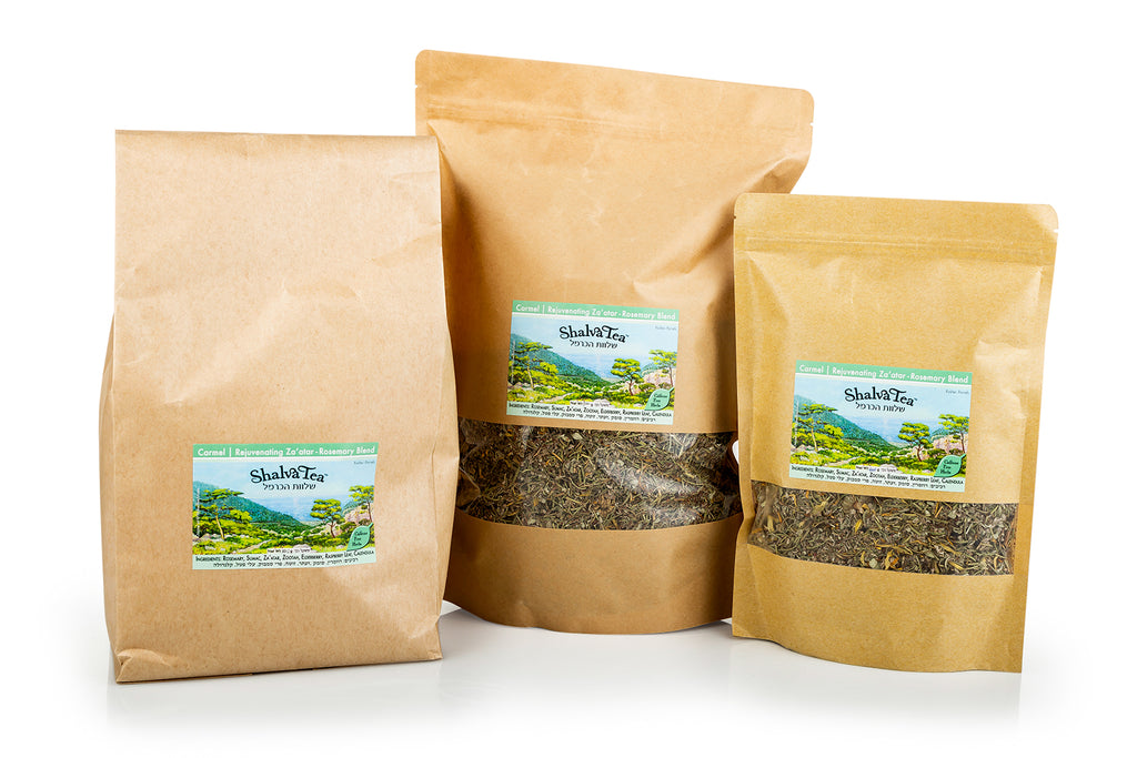 Rejuvenating Za'atar-Rosemary | Carmel Blend - ShalvaTea Kosher Israeli Herbal Teas