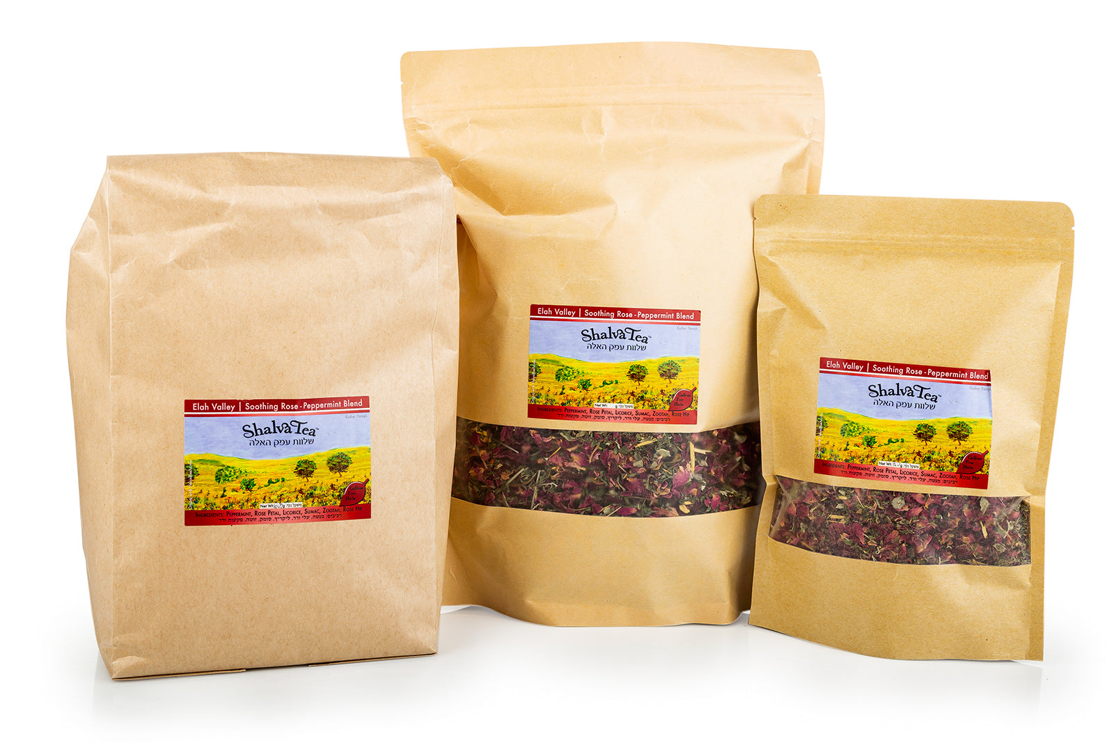 Soothing Rose-Peppermint | Elah Valley Blend - ShalvaTea Kosher Israeli Herbal Teas