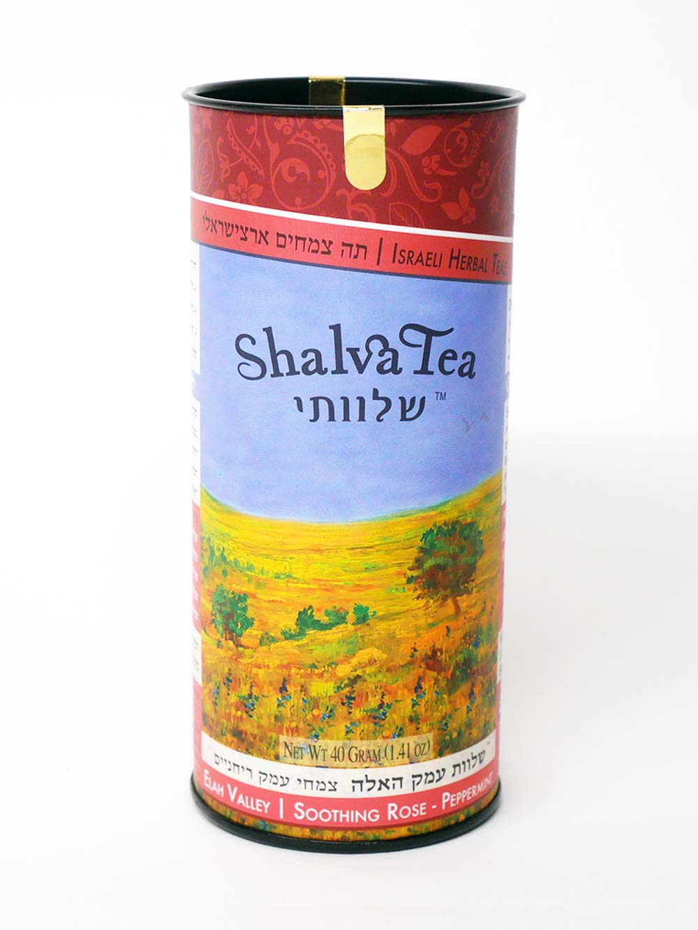 Soothing Rose-Peppermint | Elah Valley Blend (20 Teabags) - ShalvaTea Kosher Israeli Herbal Teas