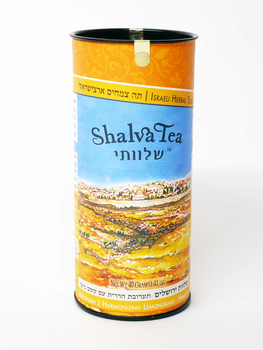 Harmonizing Lemongrass-Hibiscus | Jerusalem Blend (20 Teabags) - ShalvaTea Kosher Israeli Herbal Teas