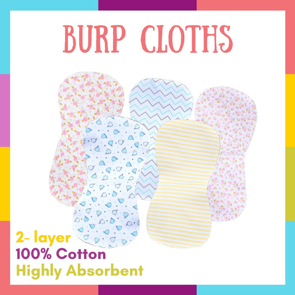 Burp Cloths for Baby Boys and Girls, 6-24 months