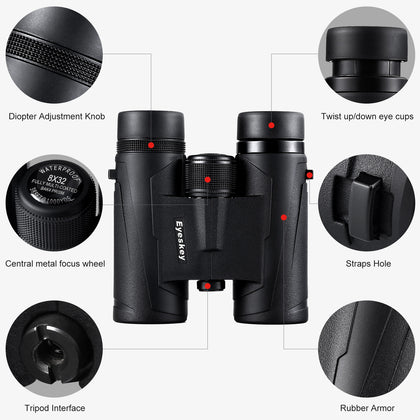 Eyeskey Legend-HD 8X32 Binoculars