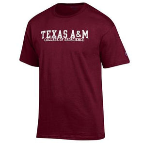 Texas A&M College of Geoscience Champion T Shirt