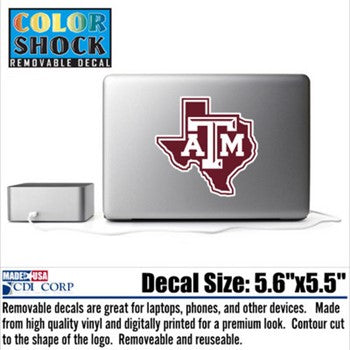 Texas A&M Reusable Texas A&M Decal