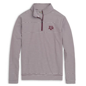 Texas A&M Peter Millar Perth Mini Stripe 1/4 Zip
