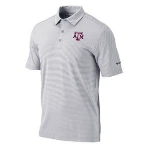 Texas A&M Columbia OCS Golf One Swing Cool Grey Polo