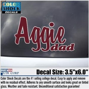 Aggie Dad Decal
