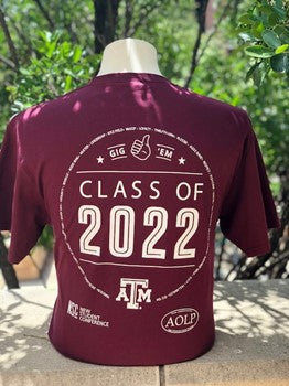 Texas A&M Aggie Class of 2022 T Shirt