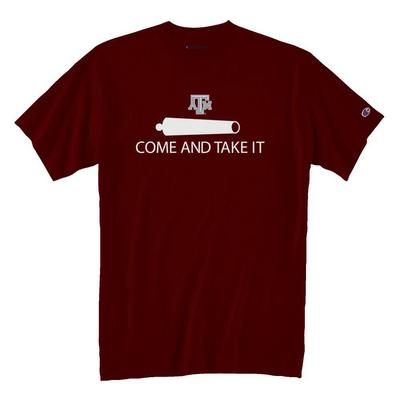 TEXAS A&M COME AND TAKE IT CHAMPION JERSEY T-SHIRT