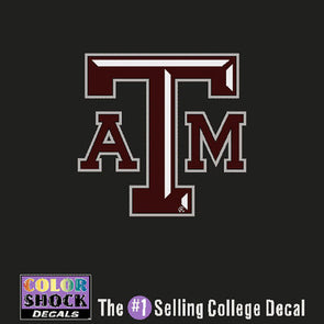 Texas A&M Small Block ATM Decal
