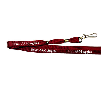 Texas A&M Aggies Maroon Printed Lanyard With Hook