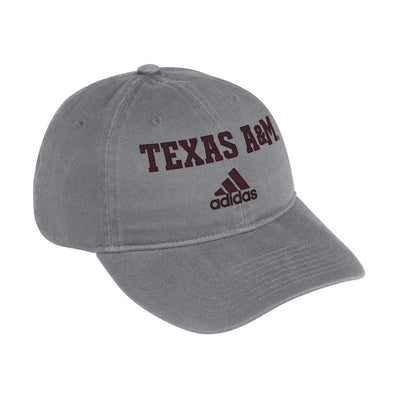 Texas A&M Adidas Men's Grey Adjustable Cotton Slouch Hat