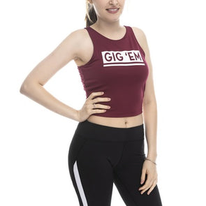 Texas A&M Fourth Down Crop Top