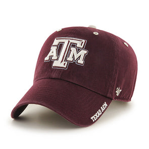 online store dc73f 61f0a Texas A M Logo Ice 47 Clean Up Adjustable Hat
