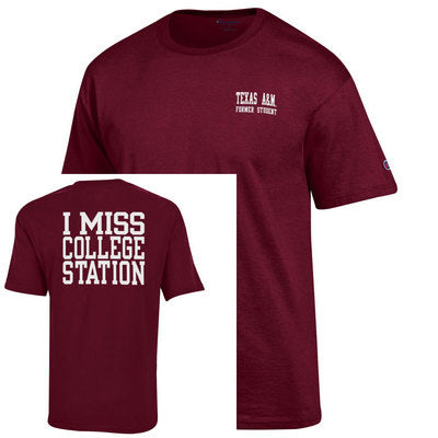 Texas A&M I Miss College Station Champion Jersey T Shirt