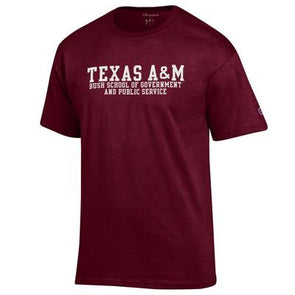 Texas A&M Champion Bush School of Government and Public Service Tee