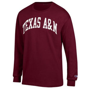 Texas A&M Champion Maroon Long Sleeve Jersey Tee