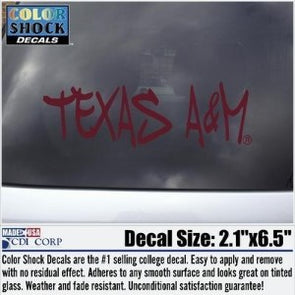 Texas A&M Maroon Graffiti Decal