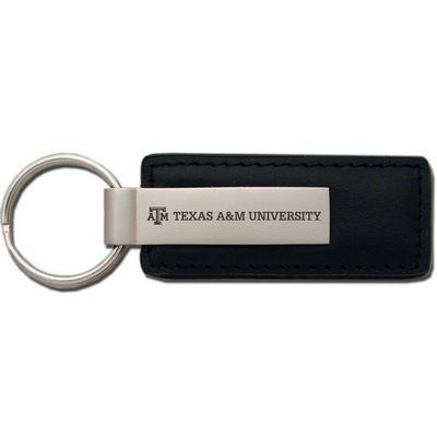 Texas A&M Aggies Leather Strip Key Tag