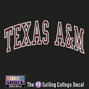 Texas A&M Arched Decal