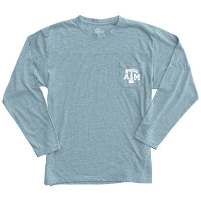 Texas A&M Alta Gracia Long Sleeve Front Pocket Crewneck T Shirt