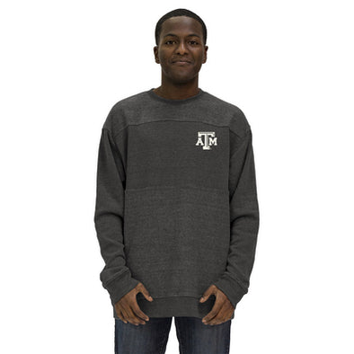 Texas A&M Alta Gracia Eco Relaxed Fit Reversed Block Pullover Sweatshirt