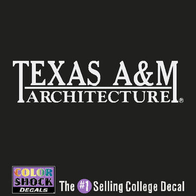 Texas A&M Architecture Color Shock Decal