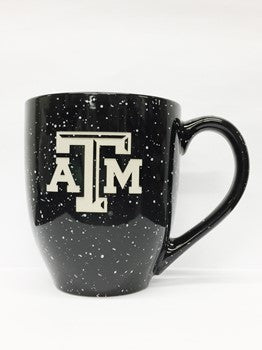 Texas A&M Black Paint Splatter ATM Bistro Mug