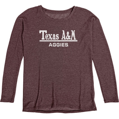 Texas A&M Blue 84 Reserve Women's Cozy Fleece Crew
