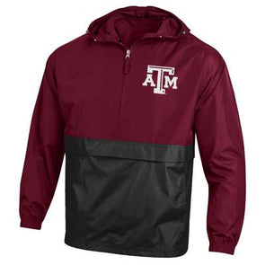 Texas A&M Champion Colorblock Packable Jacket