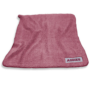Texas A&M Color Frosty Fleece Blanket - Maroon