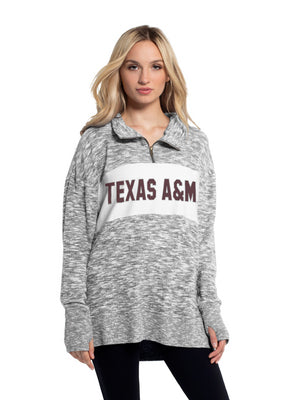 Texas A&M Chicka D Cozy Long Sleeve Quarter Zip