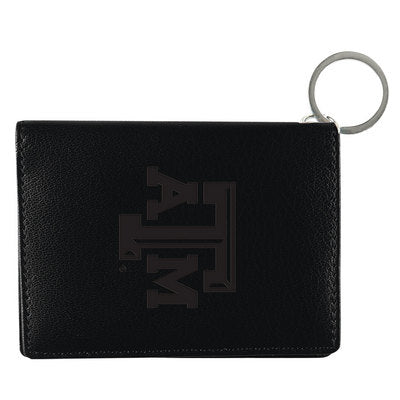 Texas A&M Black Leather ID Holder