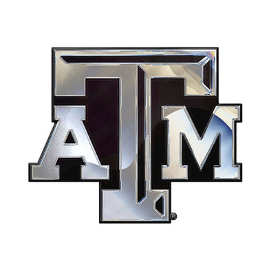 Texas A&M Chrome Car Emblem