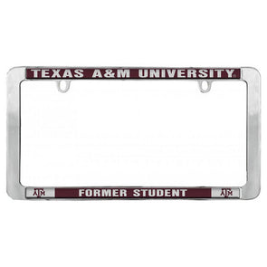 Texas A&M Stockdale Former Student Domed License Plate Frame